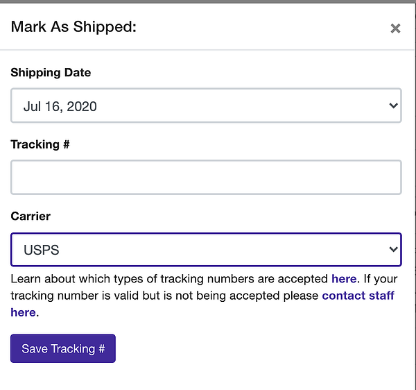 how to mark an order as shipped