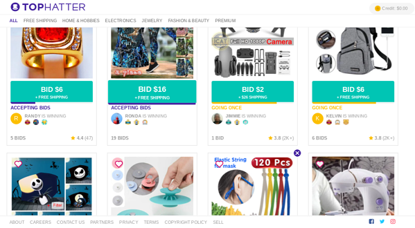 tophatter online auction site